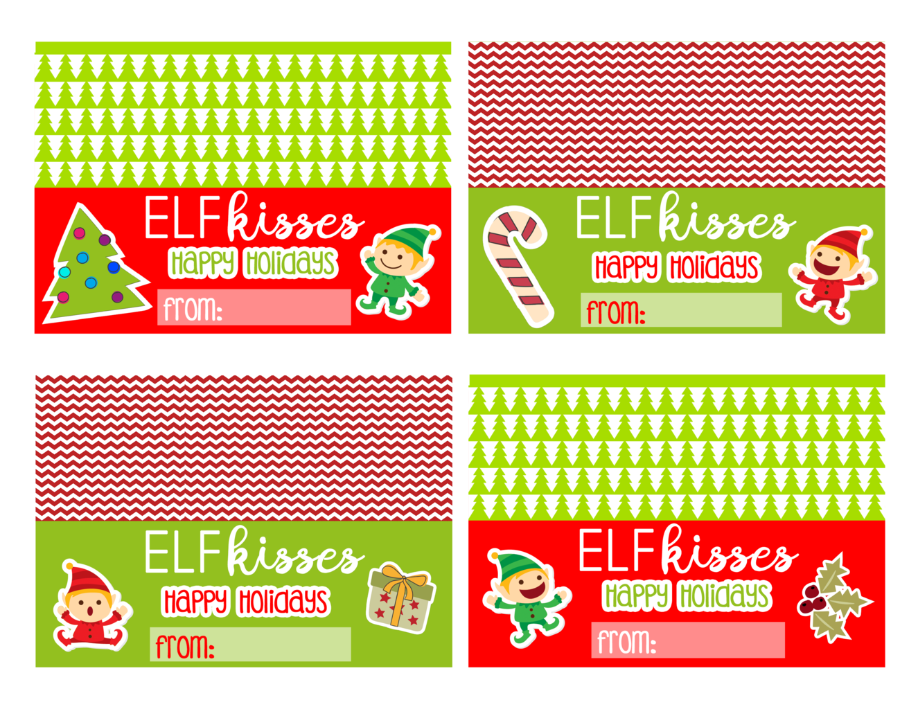 image about Elf Kisses Printable named Elf Upon The Shelf Printables Bag Toppers - This Worthey Daily life
