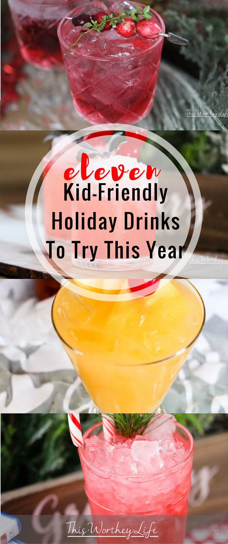 Get kid-friendly holiday drink recipes to try this season. Perfect for Thanksgiving, Christmas and New Year's, our mocktail ideas are perfect for kids and adults. Get 11 Kid-Friendly Drink Ideas on the blog!