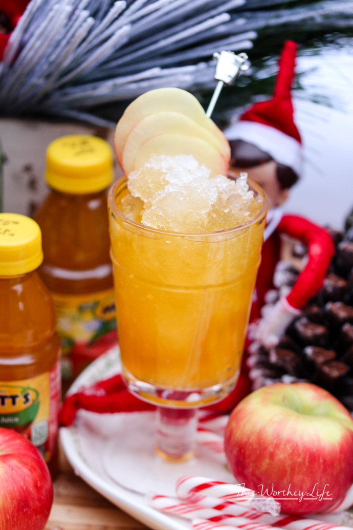 Apple Mango Juice & Rum Slush