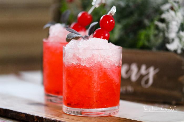 Cherry Christmas Mocktail