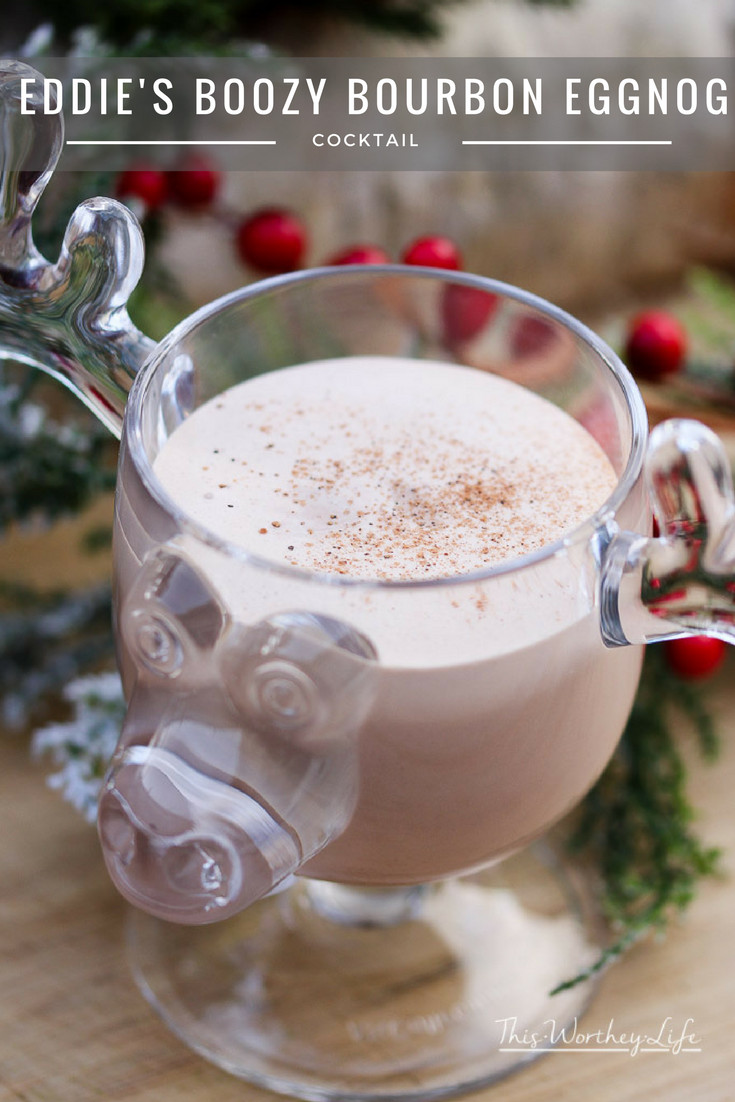 Want an eggnog recipe that doesn't require eggs? Try our Boozy Bourbon Eggnog inspired by Cousin Eddie from National Lampoon's Christmas Vacation.- Eddie's Boozy Bourbon Eggnog