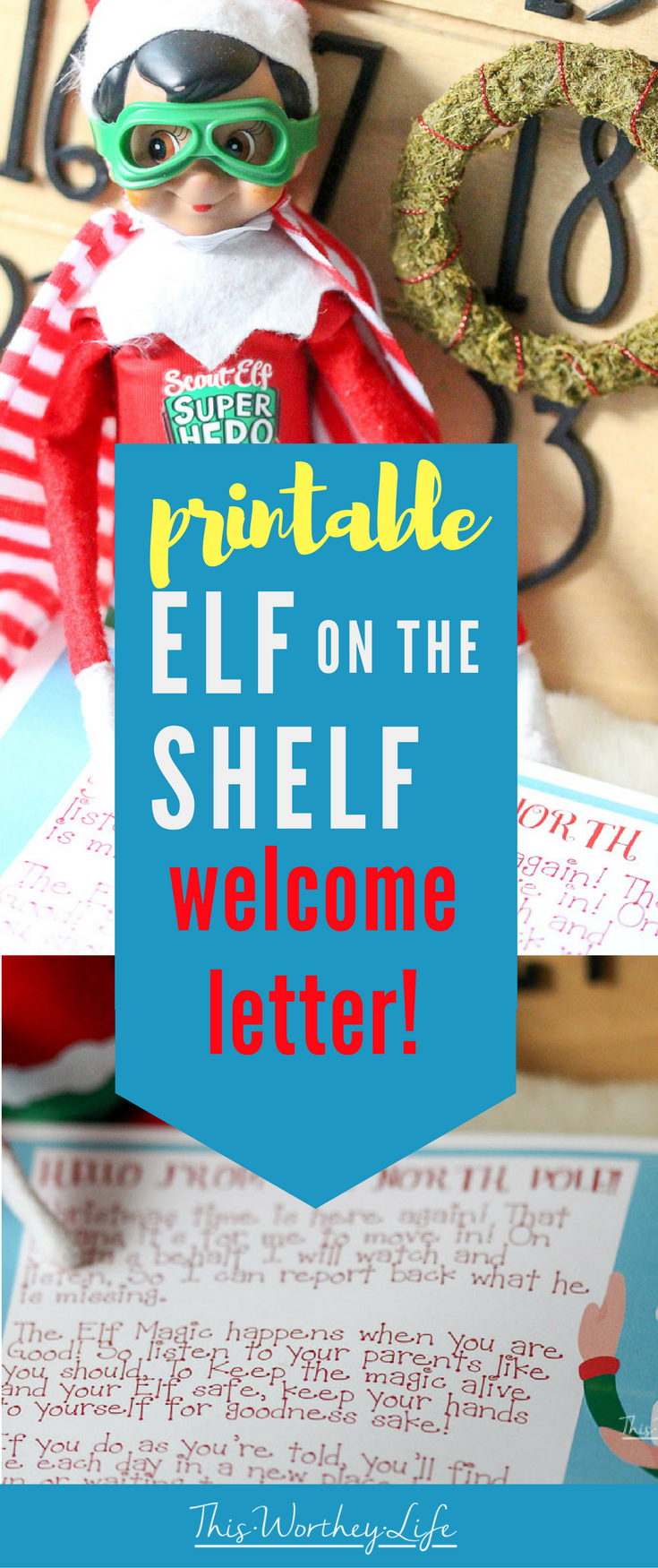 graphic about Elf on the Shelf Letter Printable titled Elf upon the Shelf Welcome Letter Printable - This Worthey