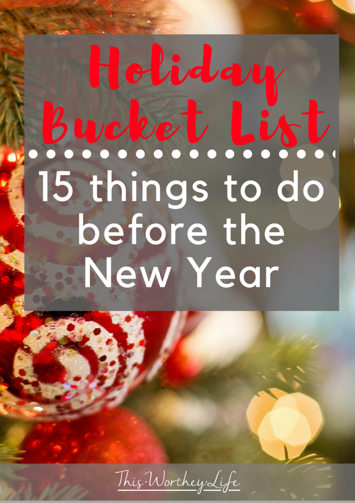 The holidays are here, and there are so many fun and festive things to do during the holidays. We've put together 15 things to do before the New Year on our holiday bucket list ideas post. Keep reading for inspiration and try something new this year!