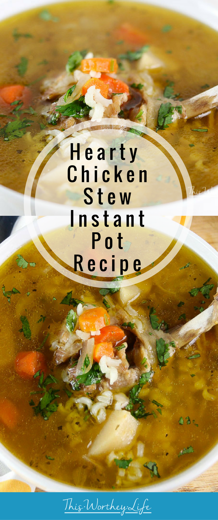 Comfort food in a bowl is a great way to start warm during those cold and long winter days. Try our homemade Chicken Stew, made in the Instant Pot. Not only is this a quick way to make a homemade chicken soup, but it's full of delicious ingredients, giving you all the comforts of home in a warm bowl.