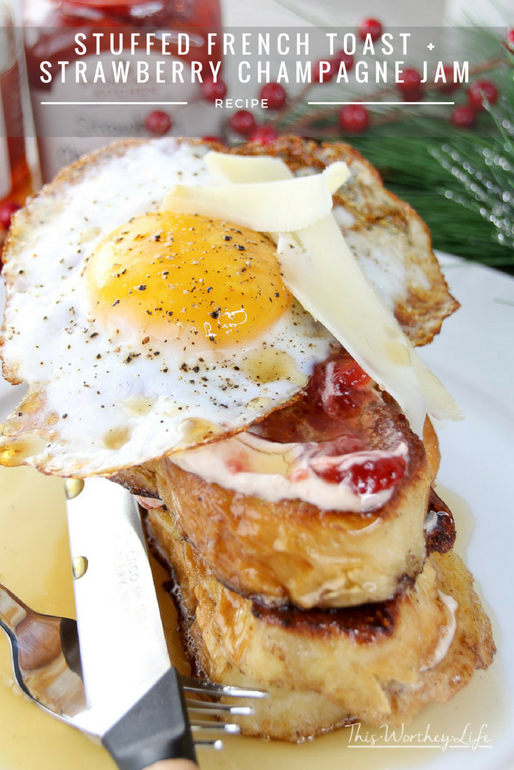 Create a delicious Christmas breakfast with our French Toast recipe. Get our stuffed French Toast recipe along with a Strawberry Champagne Cream Cheese Jam.