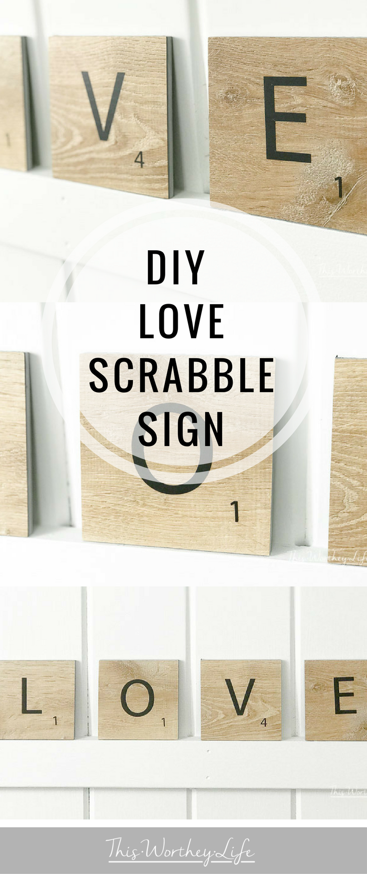 This easy DIY project is one you can do in about 30 minutes. Using wood letter tiles, you can easily make a Scrabble-type sign to use as a beautiful home decor piece. Learn how to make a Love sign out of Scrabble wood tiles using your Cricut on the blog!