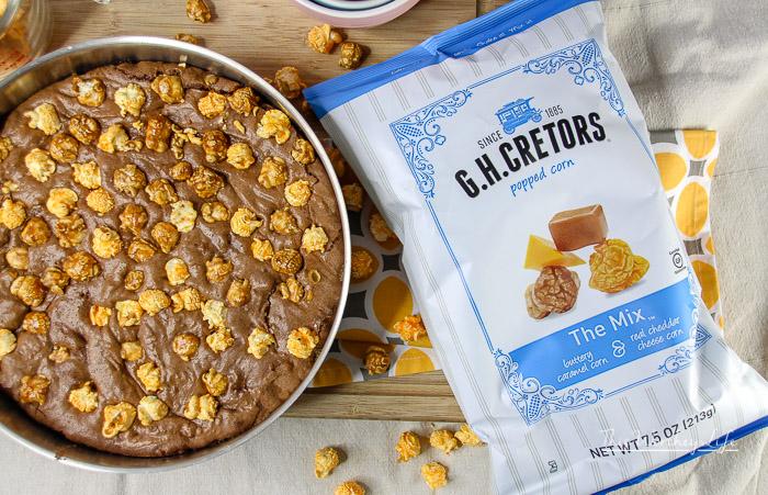Popcorn S'mores Brownie Dessert