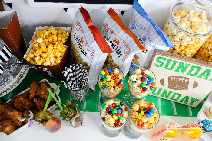 Game Day Popcorn Bar Idea