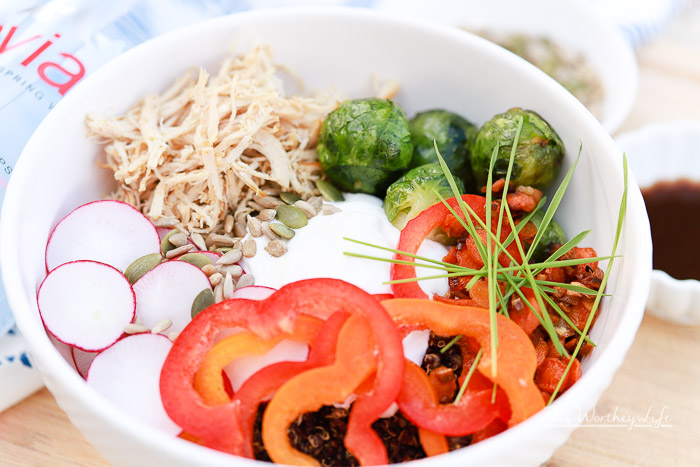 As we enter a new year, with new resolutions to make changes, yogurt bowls are super popular. However, we've switched it up by creating a savory yogurt bowl, filled with quinoa, shredded chicken, and fresh veggies. Get the recipe down below, as well as my health resolutions for this year