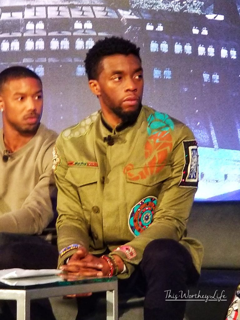 Chadwick Boseman Black Panther Movie Press Conference