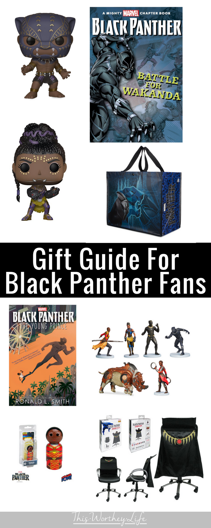 Learn about the Black Super Action Figures and Black Panther movie merchandise that's currently out for you to buy. These are great gift ideas for the Marvel geek in your life and Black Panther toys for the kids!
