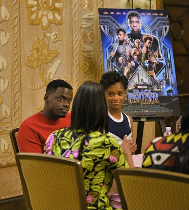 Interview with Daniel Kaluuya + Letitia Wright on empowering girls, comedy, and message of Black Panther