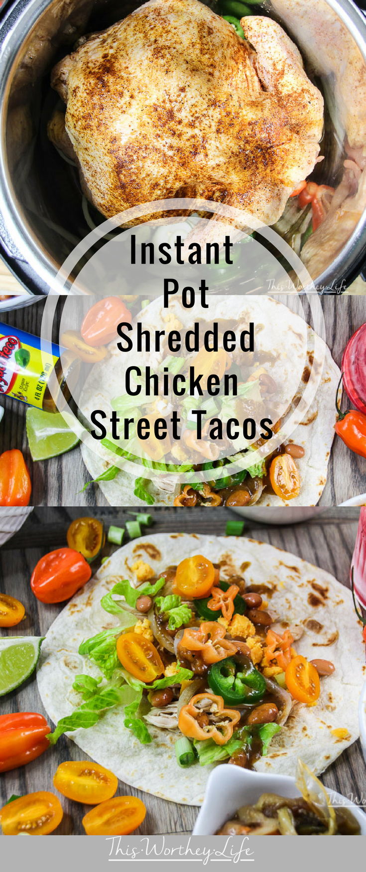 We love to use our Instant Pot and create easy recipe ideas. We cooked a whole chicken in the Instant Pot and made Shredded Chicken Street Tacos. It's a budget-friendly recipe, made in 30 minutes, and one that the whole family will love! Check out how to make Instant Pot Shredded Chicken Street Tacos on the blog!