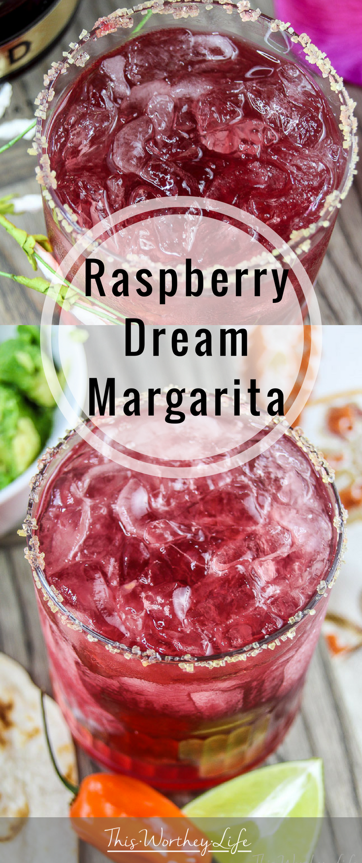With National Margarita just around the corner, we're mixing up the classic margarita with a Raspberry Margarita. It's so good, it's a dream. Withhomemade raspberry simple syrup, grabbed the Chambord, a fresh squeeze of lime juice, and a long pour of gold tequila, give our Raspberry Margarita a try!