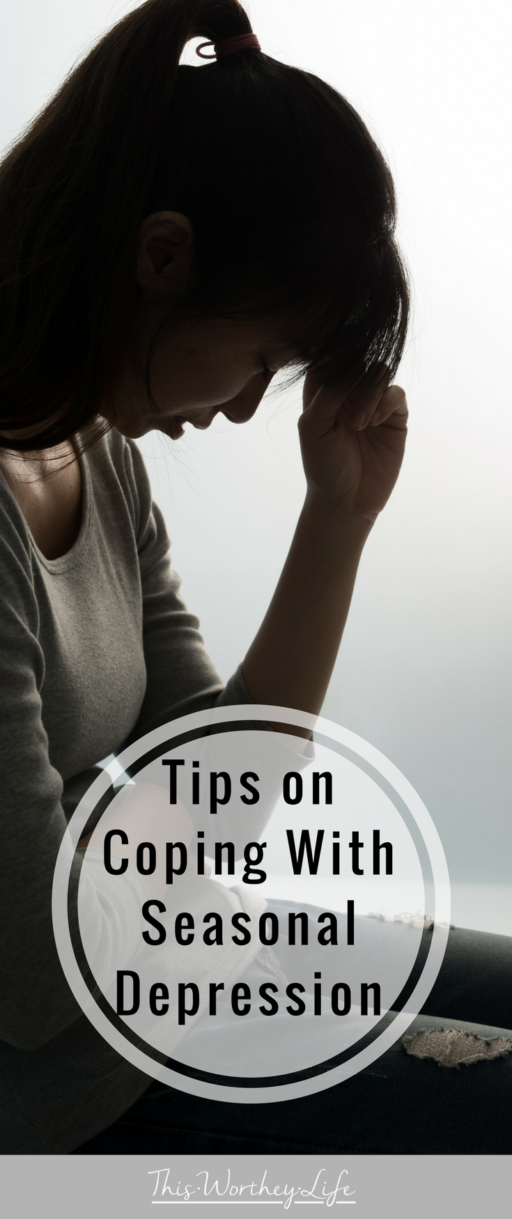 Seasonal Depression is something many people deal with- and don't know it. I'm sharing some easy ways for coping with seasonal depression and how you can get through it each season!