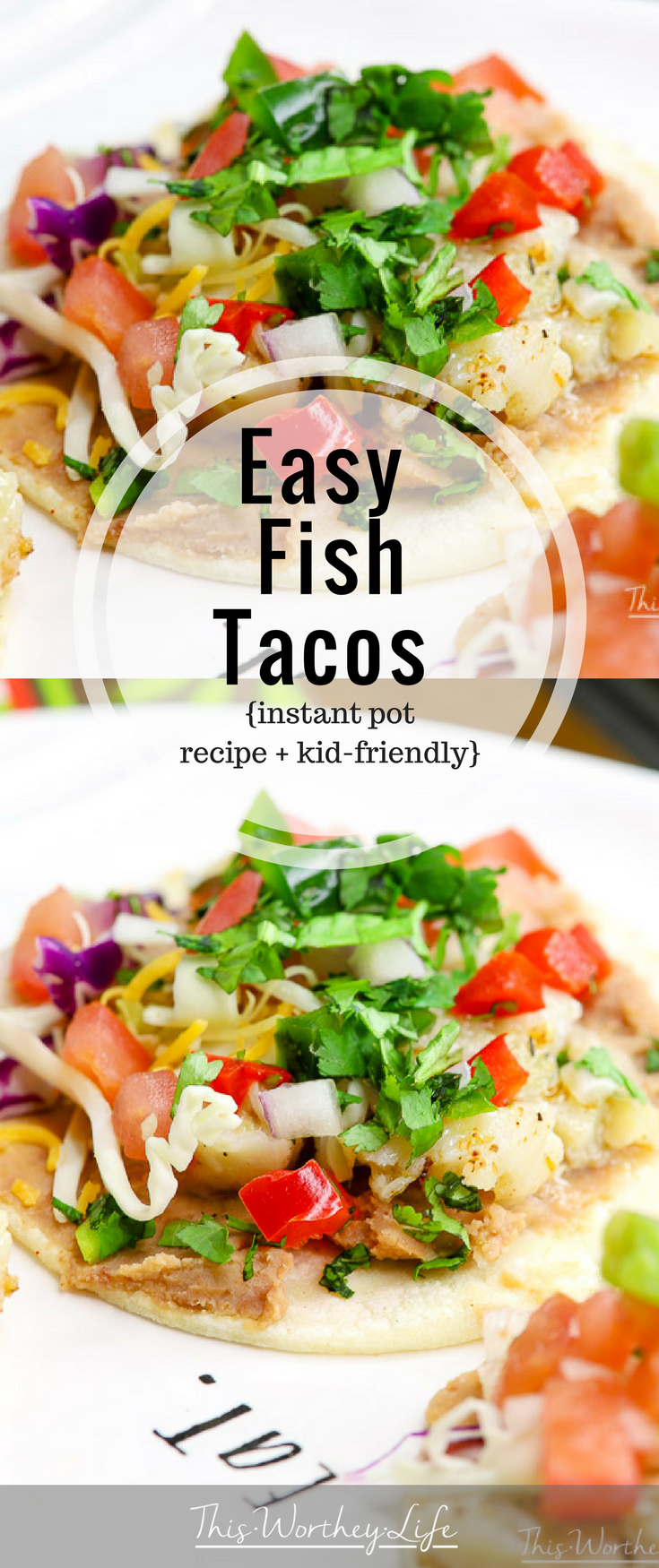 Get dinner on the table in 20 minutes with my easy Instant Pot Fish Tacos recipe using Alaska Pollock. I'm sharing how I put this taco recipe together and how my family reacted to using seafood versus another type of meat!