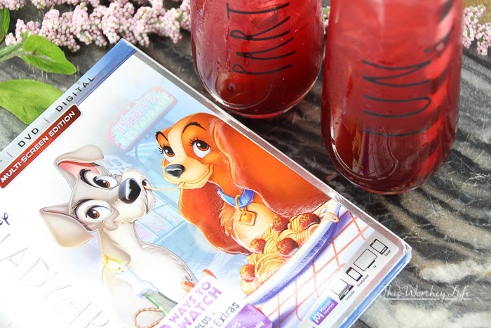 how to make a Lady and the Tramp drink for kids