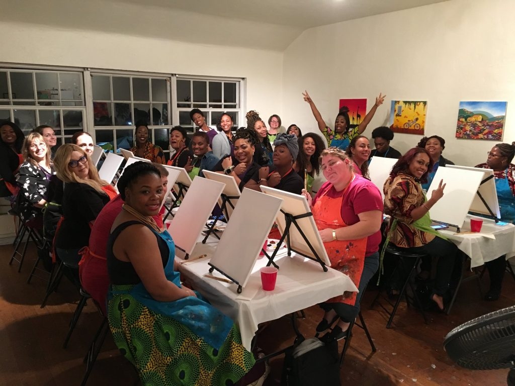 Paint and Sip studio in LA review