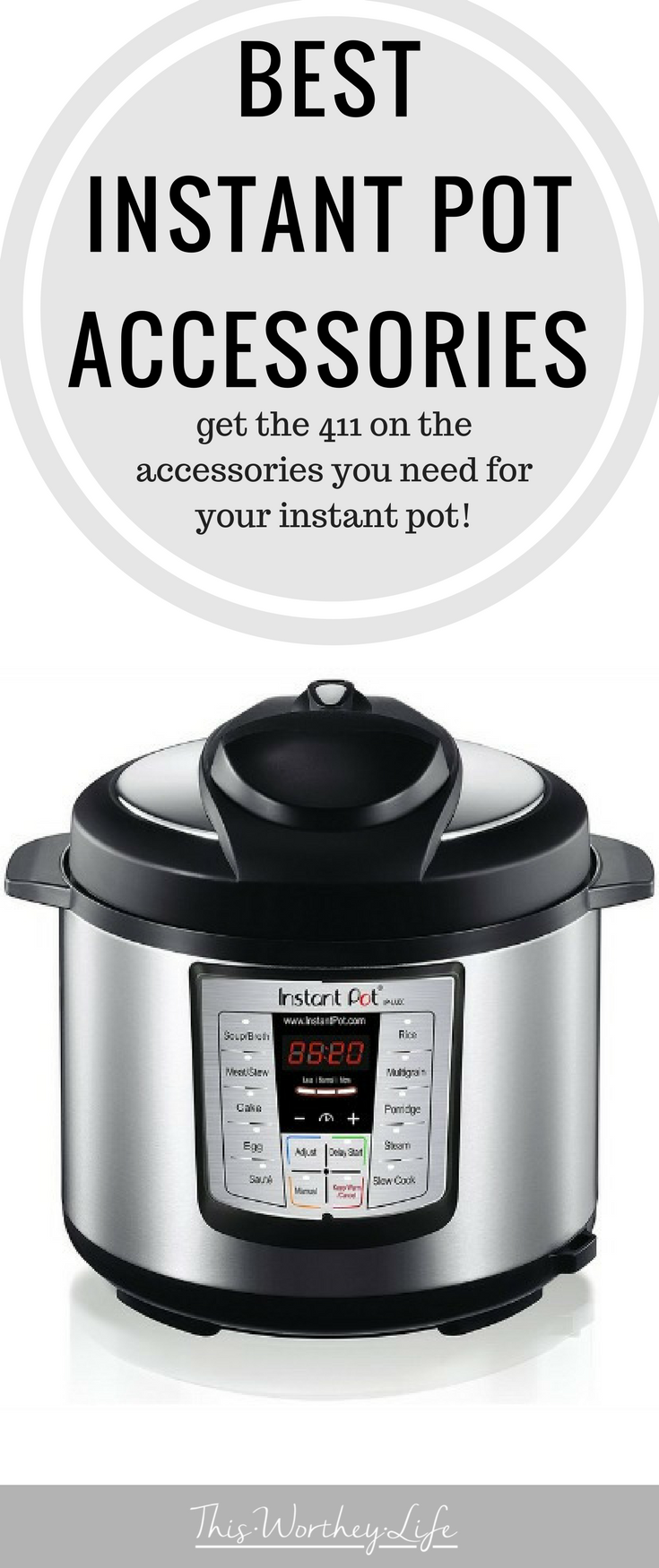 If you have an Instant Pot or planning on buying an Instant Pot, there are certain accessories you will need to get the most of your pressure cooker. I'm sharing the best instant pot accessories you want to invest in on the blog! #instantpot #instantpotaccesories #kitchentips #kitchenhacks