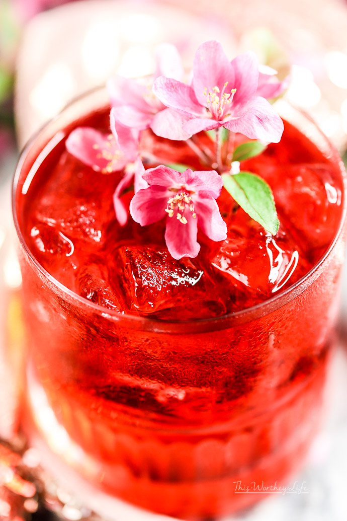 how to make a cocktail with vodka and rose