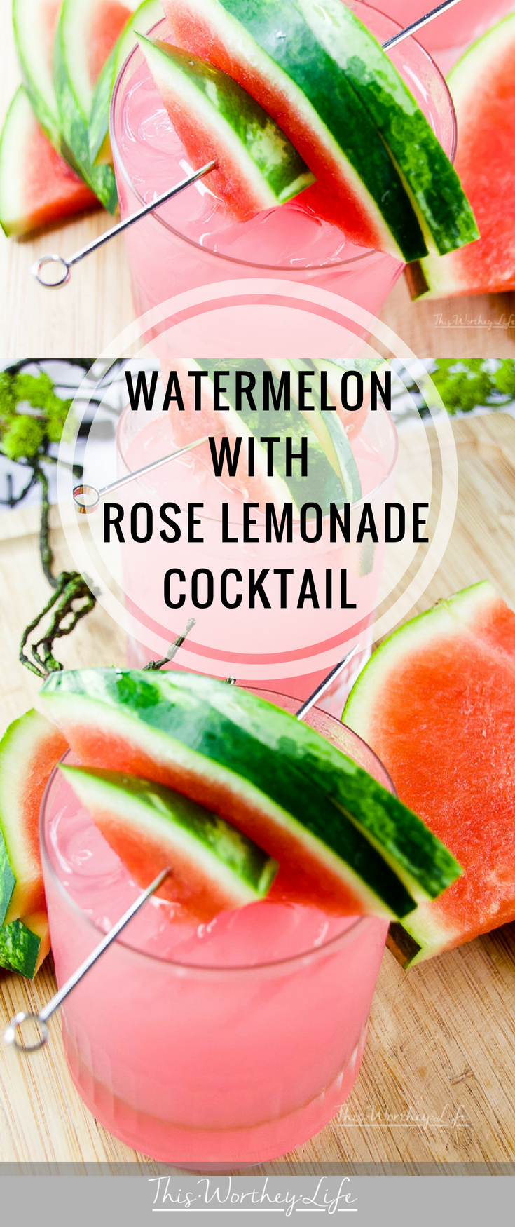 If you are looking for your go-to cocktail this summer you can't go wrong with our totally super yummy Watermelon + Rose Lemonade Cocktail. Using Smirnoff Watermelon Vodka, fresh watermelon, rose lemonade, and pink lemonade, this mix is one summer drink you will not forget!
