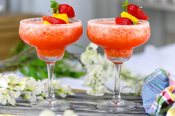 The Best Frozen Strawberry Cocktail