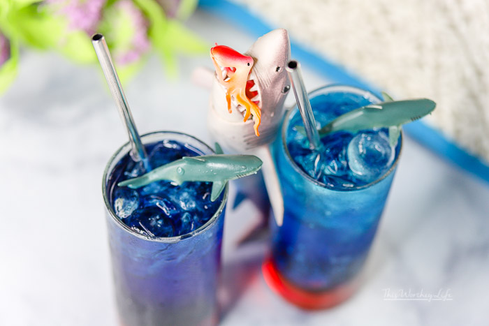 It's Shark Week- Blood In The Water Mocktail
