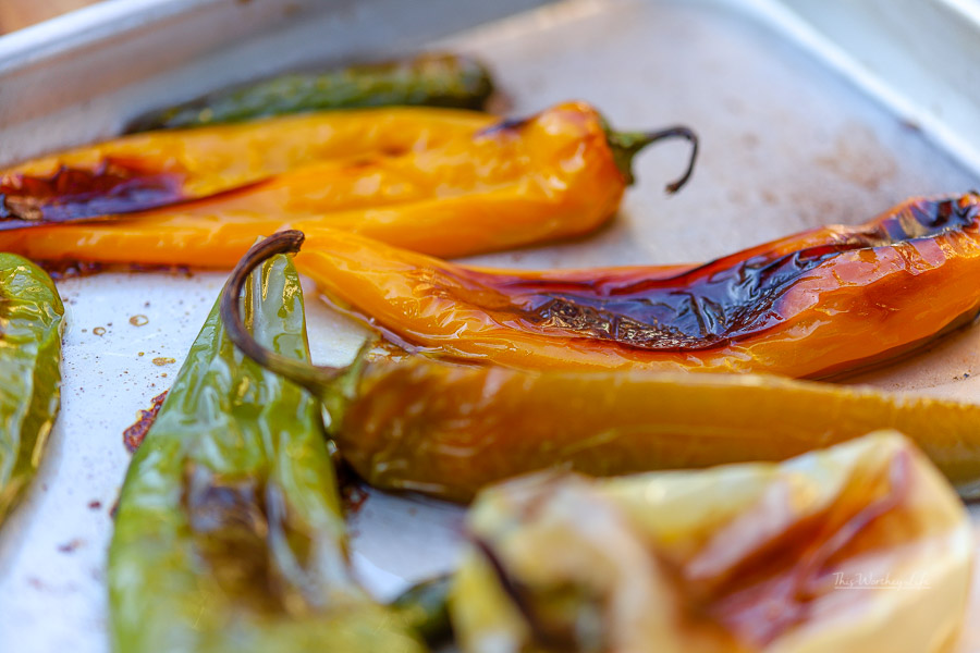 The Best Charred Peppers
