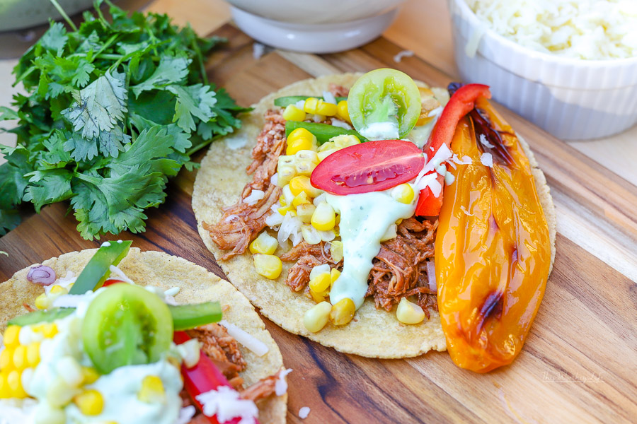 Do you have leftover BBQ Pulled Chicken? If so, here's a way you can use your leftover chicken to make chicken street tacos in your Instant Pot.