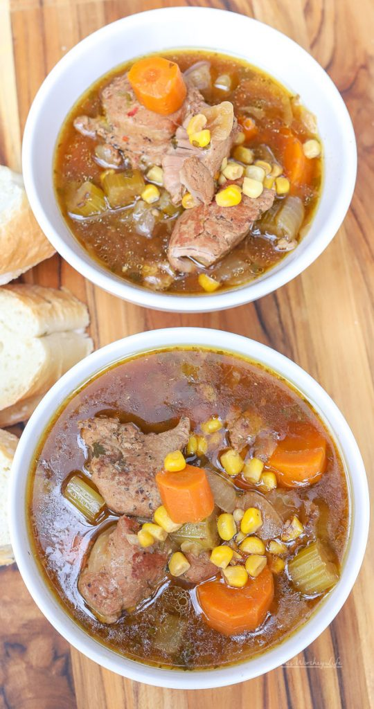 Savory Pork Soup recipe