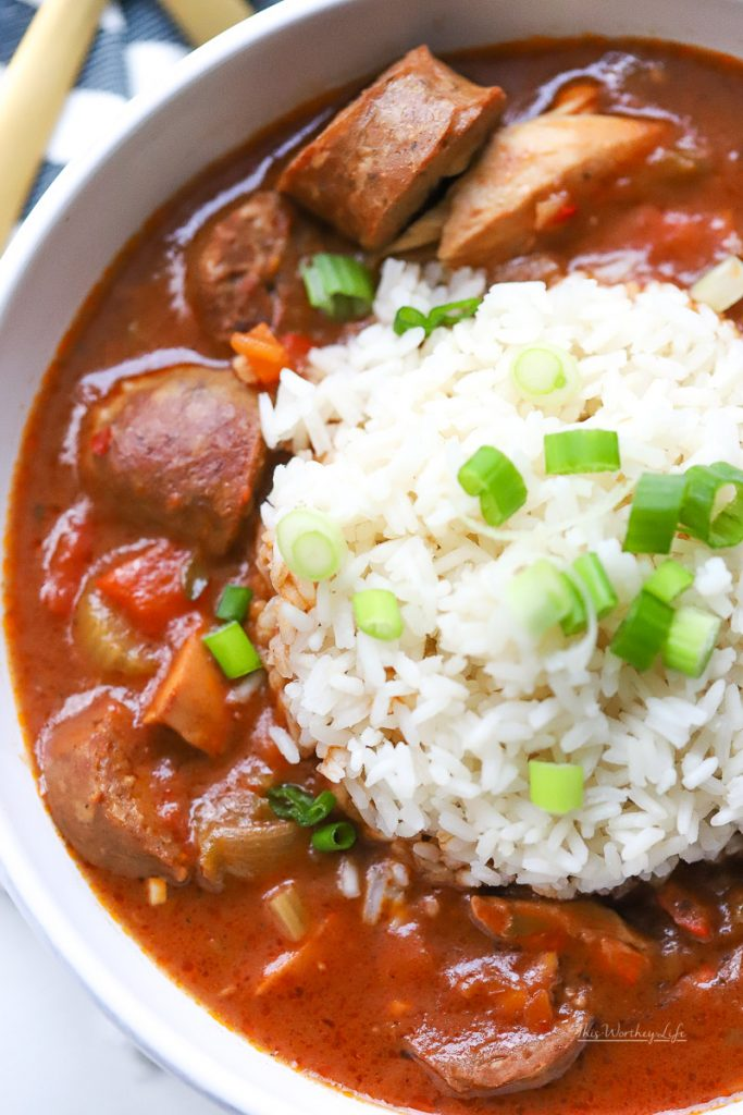 How To Make Chicken Gumbo in the Instant Pot | Easy Chicken & Andouille Sausage Gumbo Recipe