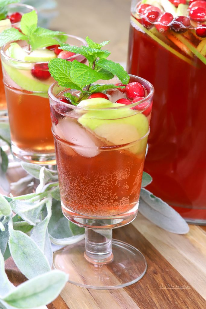 Rosé Sangria cocktail idea for the holidays