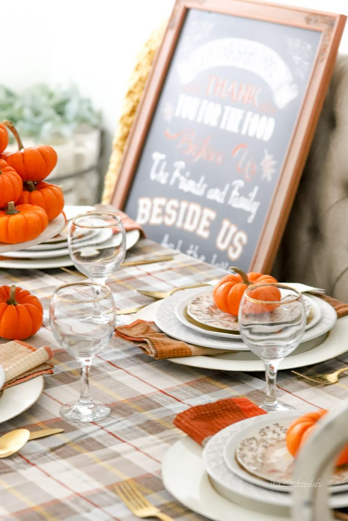 Thanksgiving tablescape idea