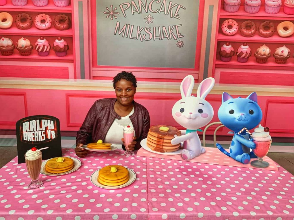 Ralph Breaks the internet pancakes and milkshake
