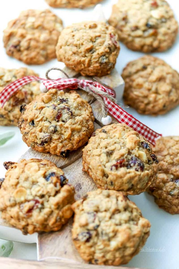 We're sharing our homemade loaded oatmeal raisin cookies recipe, which are great for the holiday baking season. And, we're part of the Houseful of Cookies blog hop, so you will find a ton of great cookie recipes to share this year!