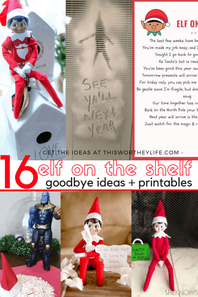 photograph about Printable Elf on the Shelf Goodbye Letter named Printable Elf Upon The Shelf Goodbye Letter - This Worthey