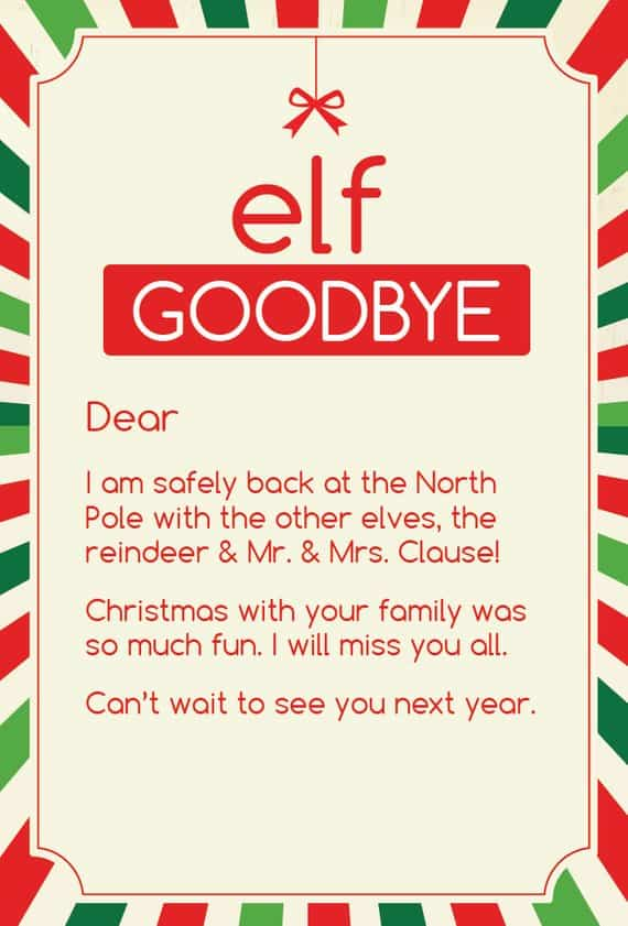 photograph about Elf on the Shelf Goodbye Letter Printable titled 16 Elf upon the Shelf Goodbye Tips + Printable Elf upon the