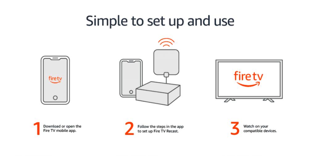 how to set up a Fire TV recast