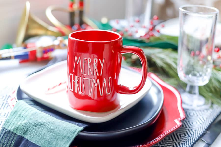 We're on a countdown to Christmas using our Rae Dunn Christmas mugs. Get inspired with our Rae Dunn Advent Christmas countdown!