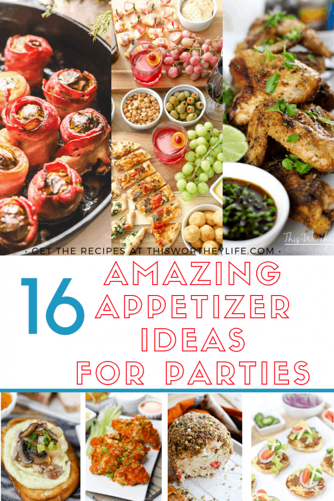 Hosting a New Year's Eve party this year? We have 16 New Year's Eve appetizer ideas that are easy to make and will wow the crowd! These are easy appetizer ideas, including no-bake appetizers! Check out our roundup of the best appetizers to serve for your New Year's Eve party on the blog! #appetizers