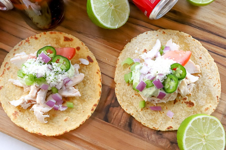 Simple Taco recipe: Rotisserie Chicken Street Tacos