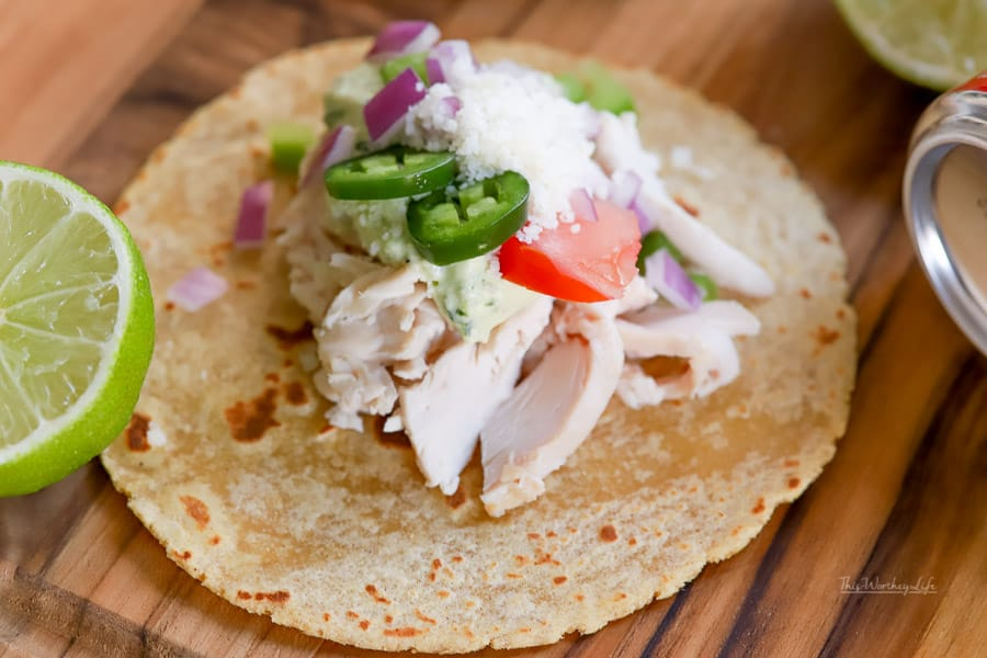 Simple Taco recipe: Rotisserie Chicken Street Tacos