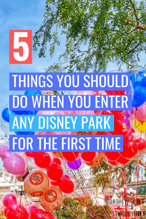 When you get to a Disney World Park, there are some things you should do right away upon entry.  Whether you have planned your day out in full, or have no idea what to do, these Disney park entry tips will get you started on a successful day at any park.