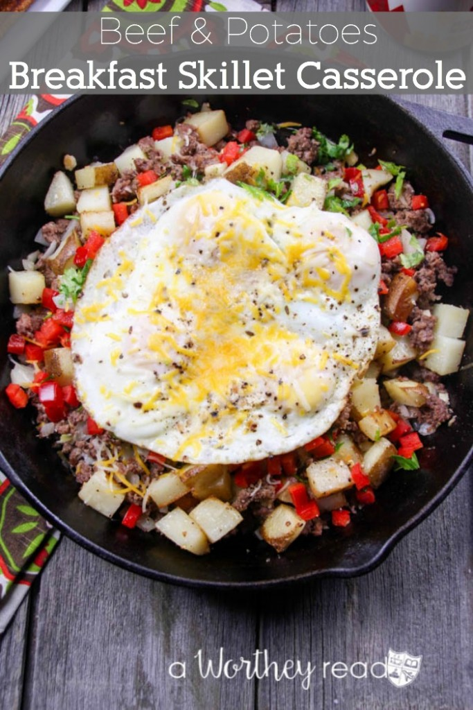 Beef & Potatoes Breakfast Skillet Casserole