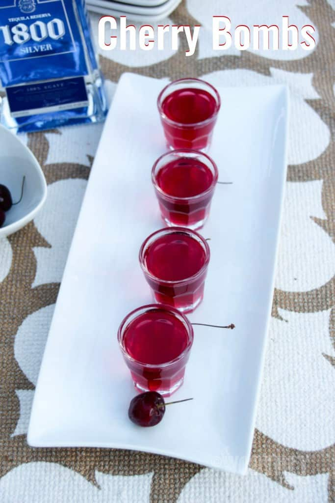 Tequila-Soaked Cherry Bombs