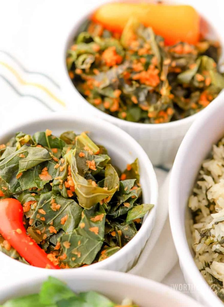 How to make Collard Greens + Carrots