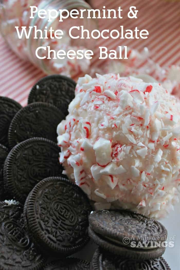 Easy Cheese Ball Recipe With Peppermint & White Chocolate