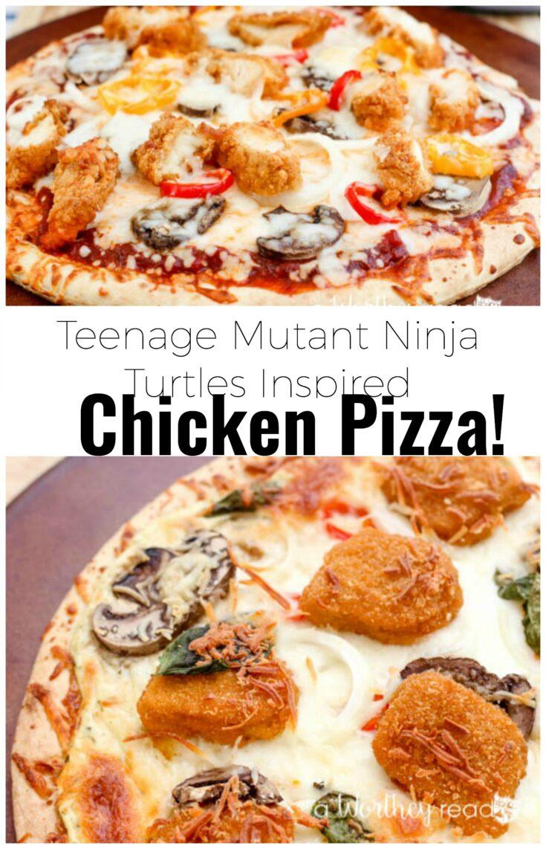 Teenage Mutant Chicken Pizza