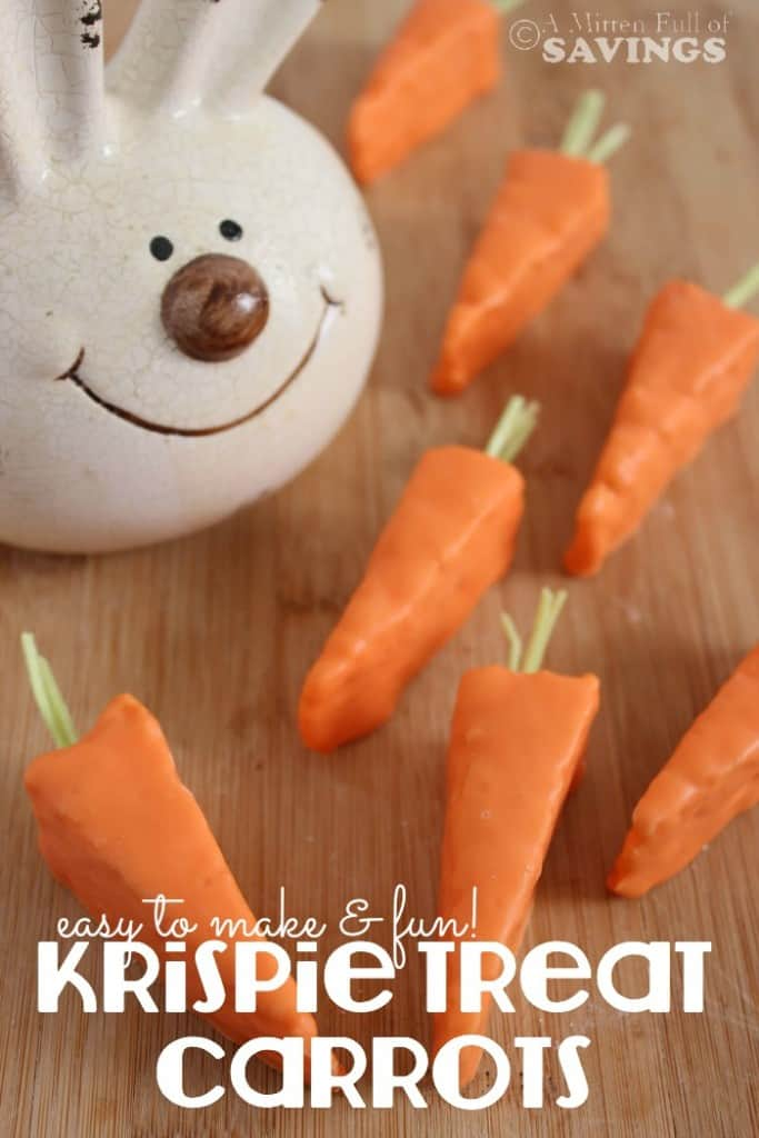 Easy Easter Treat: Krispie Treat Carrots
