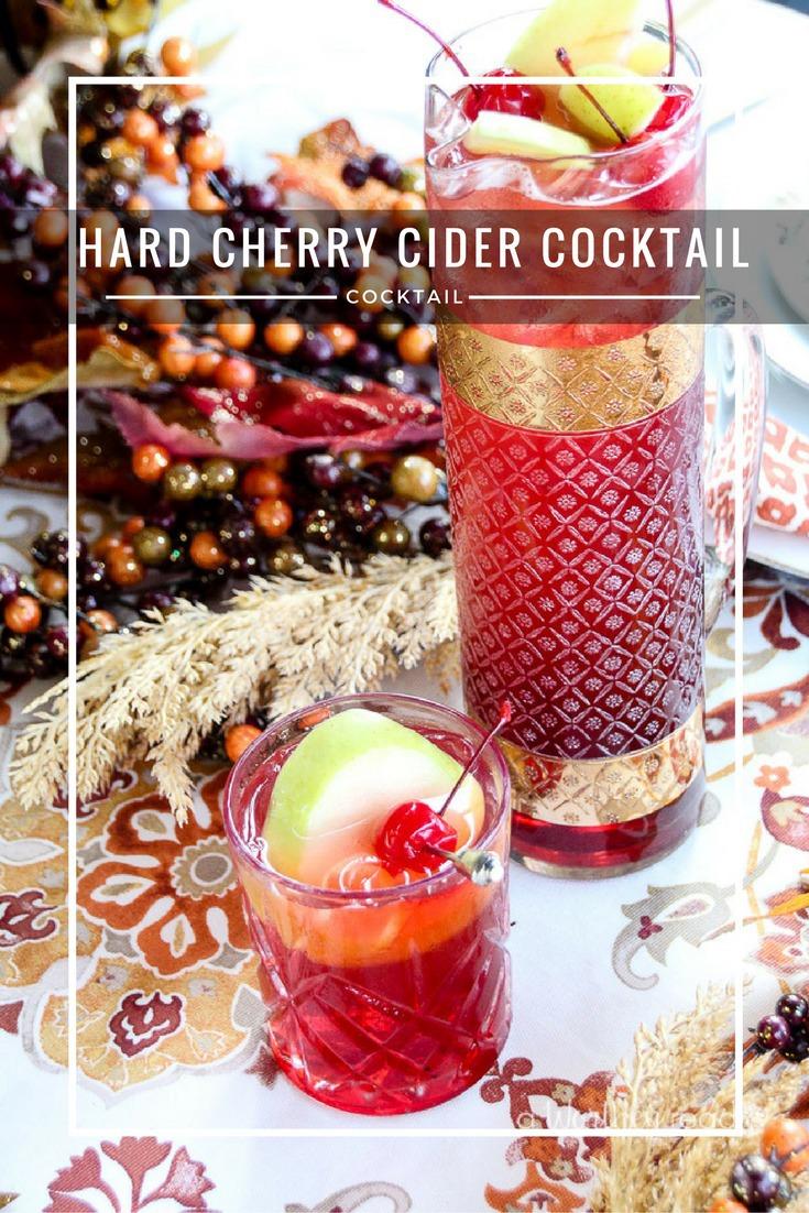 Hard Cherry Cider Cocktail {& Mocktail version}